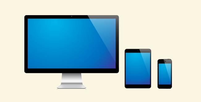 「様々なデバイスに対応するレスポンシブWebデザイン」のイメージ画像