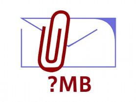 添付ファイルは何MBまで送ってよいか?